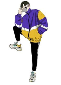 Boy Art, Art Girl, Aesthetic Art, Aesthetic Anime, Moda Streetwear, Boy Drawing, Drawing Clothes, Art Reference Poses, Anime Outfits