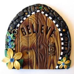 polymer clay fairy door by Clay by Kim; Made by a #PCETeam Member by margret