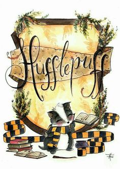 Print Hufflepuff Pride - Hogwarts Art - Fandom art print - Harry Potter Painting- Book lovers - Gifts for Booknerds by TJLubrano on Etsy Fanart Harry Potter, Harry Potter Kunst, Theme Harry Potter, Cute Harry Potter, Harry Potter Drawings, Harry Potter Wallpaper, Harry Potter Universal, Harry Potter Fandom, Harry Potter World