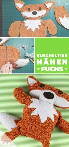 Kostenlose Anleitung - Kuscheltier nähen für Kinder oder Babys - Fuchs nähen - Talu.de