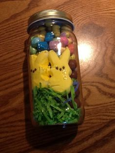 Easter basket in a jar i just made this to send to my college son diy easter baskets gifts for teens negle Images