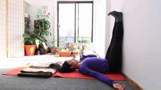 Restorative Yoga - Legs up the Wall pose aka Viparita Karani