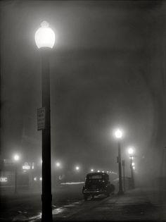 Jack Delano    Foggy night in New Bedford, Massachusetts, 1941