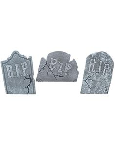 Crooked Tombstones 3-Piece Set - Buy a couple of these packs to make a full looking graveyard