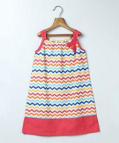 Pink A-line Chevron Print Dress - Infant, Toddler & Girls