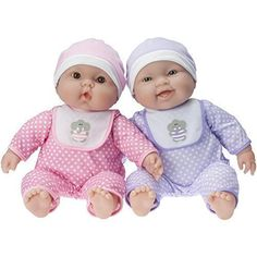 JC Toys Lots To Cuddle Babies Twin Dolls Designed by Berenguer * Want additional info? Click on the image.