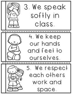 preschool classroom set up I introduce these classroom rules the first week of school. I have classroom posters in my store that goes along with this mini-book set. After stud Classroom Procedures, Classroom Rules, Classroom Posters, Kindergarten Classroom, Future Classroom, Classroom Activities, Classroom Management, Behavior Management, Kindergarten Rules