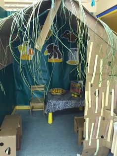Handa's surprise role play area in EYFS.