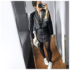 Designer Clothes, Shoes & Bags for Women Outfits Otoño, Casual Outfits, Fashion Outfits, Rock Chic, Audrey Lombard, Old Shirts, Winter Stil, Lace Jacket, Inspiration Mode