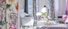 The Designers Guild fabric range has nearly 9,000 fabrics including printed floral and geometric fabrics; plains, checks and stripes, jacquards, tapestries, silks, velvets, trimmings and children's collections. At No Chintz we have a collection of Designers Guild cushions and can source your favourite Designers Guild fabrics.