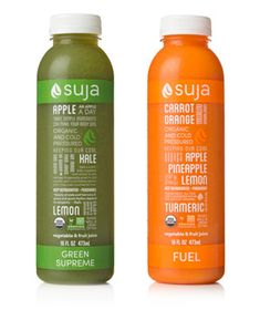 We love Suja Green Supreme, packed with kale, lemon, and just enough apple. For a sweeter option, try Suja Fuel, made with carrot, orange, apple, and pineapple.