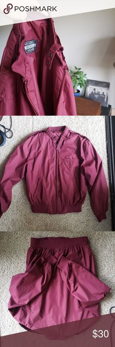 Members Only Jacket Members Only Jacket Size 40 Maroon Colour Traditional / Bomb. Maroon Colour, Members Only Jacket, Plus Fashion, Fashion Tips, Fashion Design, Fashion Trends, Maroon Dress, Girl Hairstyles, Hooded Jacket