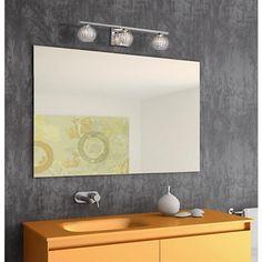 "Possini Euro Onida 23 1/4"" Wide Crystal Glass Bath Light 149 master bath"