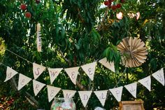 #signs, #bunting  Photography: Marianne Wilson Photography - mariannewilson.net  Read More: http://www.stylemepretty.com/2012/07/25/american-idol-lee-dewyze-marries-jonna-walsh-video-by-stereo-waltz-films/