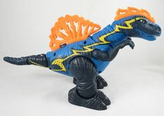 Fisher Price Imaginext Electronic Spinosaurus Blue Dinosaur Figure   2006 Discontinued    GW2.49
