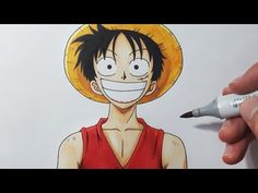 How To Draw LUFFY - Step by Step Tutorial! - YouTube