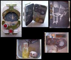 Mad Science Pocket Shrine by Myrcury-Art