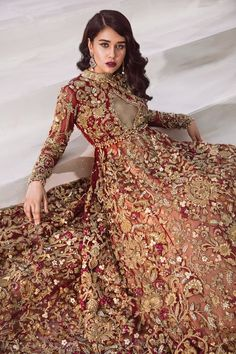 Shiza Hassan Bridal Collection 2019 Online features Pakistani Bridal & Wedding Dresses adorned with Embroidery, Zardozi, Tilla, Gold and Silver Thread Work. Indian Bridal Outfits, Pakistani Wedding Outfits, Indian Bridal Wear, Pakistani Dresses, Indian Dresses, Pakistani Bridal Couture, Designer Bridal Lehenga, Bridal Lehenga Choli, Dulhan Dress