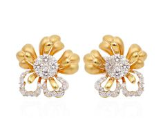 Vogue Crafts & Designs Pvt. Ltd. manufactures Designer Gold Flower Stud Earrings at wholesale prices.