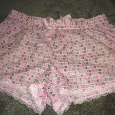 Victoria Secret PJ shorts Pink PJ shorts from Victoria Secret - tie is decoration, not drawstring - worn once, like new condition - make an offer  Victoria's Secret Other