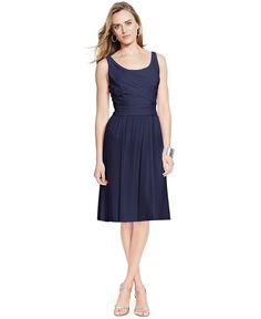 Lauren Ralph Lauren Scoop-Neck Sleeveless Dress - Dresses - Women - Macy's