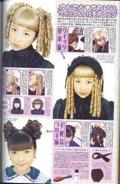 Old School Lolita Sausage Curls Lolita Makeup, Lolita Hair, Harajuku Fashion, Kawaii Fashion, Gothic Lolita Fashion, Lolita Style, Japanese Street Fashion, Gyaru, Alternative Outfits