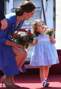 Duchess Kate: It's Hugs & Bouquets as the Royal Tour Arrives in Berlin!
