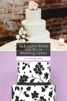 Elegant Black and White Wedding Cakes #rustic Black White Cakes, Black And White Wedding Cake, White Wedding Cakes, Pretty Wedding Cakes, Amazing Wedding Cakes, Wedding Cake Rustic, Cool Fathers Day Gifts, Dream Wedding, Elegant