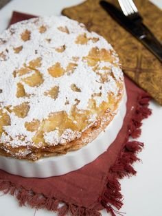 """""""Sharlotka"""" is a Russian version of an apple pie, but it is closer in texture to cake. Loaded with apples and soooo easy to make! Nmmmmm."""