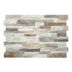 Transform the look of your entire bathroom with the Textured Alps Mixed Stone Effect Wall Tiles. Supplied in packs of Now at Victorian Plumbing. Kitchen Wall Tiles, Ceramic Wall Tiles, Wall And Floor Tiles, Tiles Uk, Brick Interior, Rustic Stone, Tiles Texture, Style Tile, Cladding