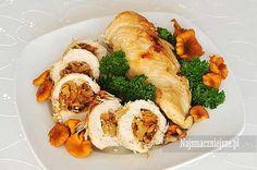 Piersi z kurczaka faszerowane kurkami