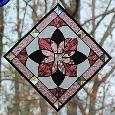 Starburst Panel~as a diamond stained glass