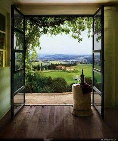 Open door Tuscany Italy