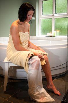 Gipsbescherming of gipshoes voor het onderbeen