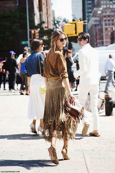 The Olivia Palermo Lookbook : New York Fashion Week Spring 2015 : Olivia Palermo at Michael Kors