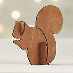 View larger image of Laser-Cut Wood Squirrel