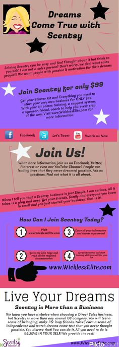 Join Scentsy! Anyone can make their dreams come true!!