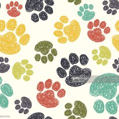 Find paw print pattern DOODLE stock images in HD and millions of other royalty-free stock photos, illustrations and vectors in the Shutterstock collection. Paw Print Drawing, Pattern Art, Print Patterns, Paw Print Image, Cartoon Tiger, Doodle Images, Poster Prints, Art Prints, Dog Paws