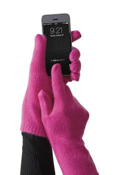Stay connected and keep your hands warm with our Cashmere Tech Gloves.