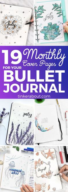 Rock your monthly cover in your bullet journal with these gorgeous summer-inspired ideas! Get inspired by these amazing bullet journal ideas! Bullet journal layout, Bullet journal inspiration, bullet journal ideas inspiration, bullet journal month cover, monthly cover page bullet journal - #bujo #bujoinspire #bulletjournal #bulletjournaling #planner