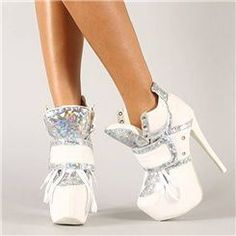 $ 100.99 Absorbing White Closed Toe High-Heeled Ankle Boots