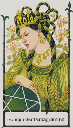 Queen of Pentacles - Tarot of the Old Path