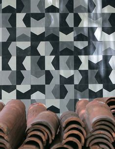 Designed by the Brazilian architect Marcelo Rosenbaum for his own house. The tiles are crafted by hand by Imperial Brazil - one of the oldest tile factories of Sao Paulo. Modernist Brazilian Tiles | modern design by moderndesign.org