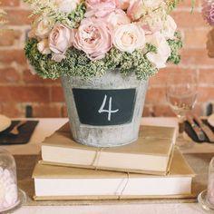 décoration de mariage vintage pour table