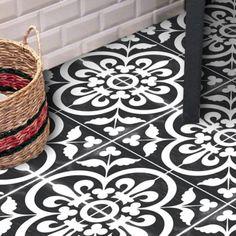 Vinyl Floor Tile Sticker - Corona Black – Quadrostyle