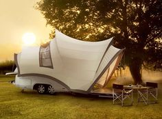 A Private Suite On Wheels - make it a two person bed and I might be tempted to go camping again