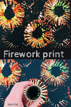Fabulous fireworks prints - - Time: 15 mins Age: Toddlers to little kids Difficulty: Easy peasy. Happy Birthday Fireworks, Happy New Year Fireworks, New Years Eve Fireworks, Firework Painting, How To Draw Fireworks, Fireworks Craft For Kids, Sparklers Fireworks, Fireworks Art, Manualidades