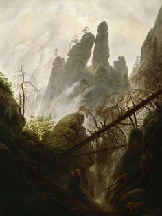 Find the latest shows, biography, and artworks for sale by Caspar David Friedrich. A leading painter of German Romanticism, Caspar David Friedrich is best kn… Mountain Landscape, Landscape Art, Landscape Paintings, Landscape Borders, Caspar David Friedrich Paintings, Casper David, National Art, Oil Painting Reproductions, Casper Friedrich