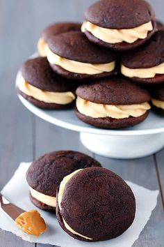 Chocolate Biscoff Whoopie Pies. #TheTexasFoodNetwork Come share your recipes with us on Facebook at The Texas Food Network