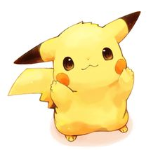 :3 blush_stickers brown_eyes ears from_above looking_at_viewer mochi_(empty_p) no_humans pikachu pointy_ears pokemon simple_background smile tail white_background